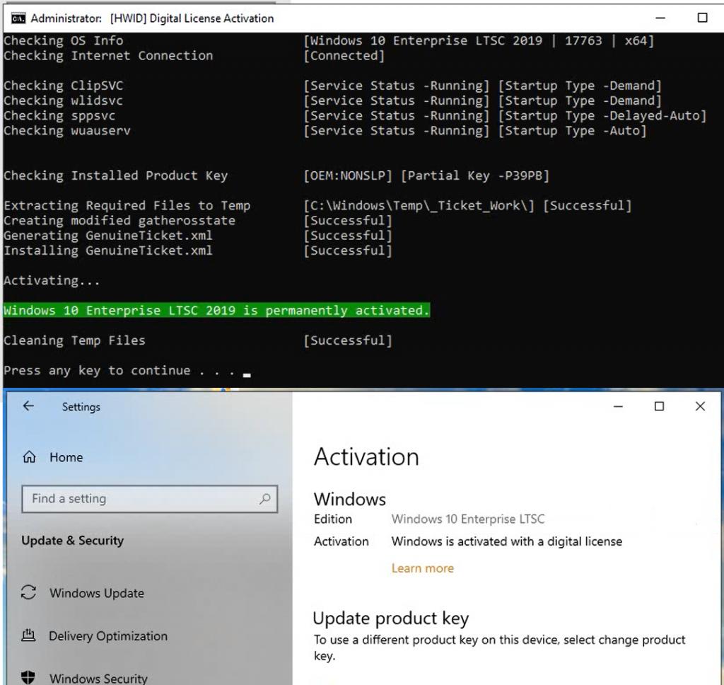 Kích hoạt bản quyền số Windows 10 LTSC 2019