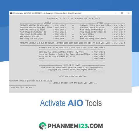 Activate AIO Tools 2021 - Kích hoạt Windows, Office mọi phiên bản
