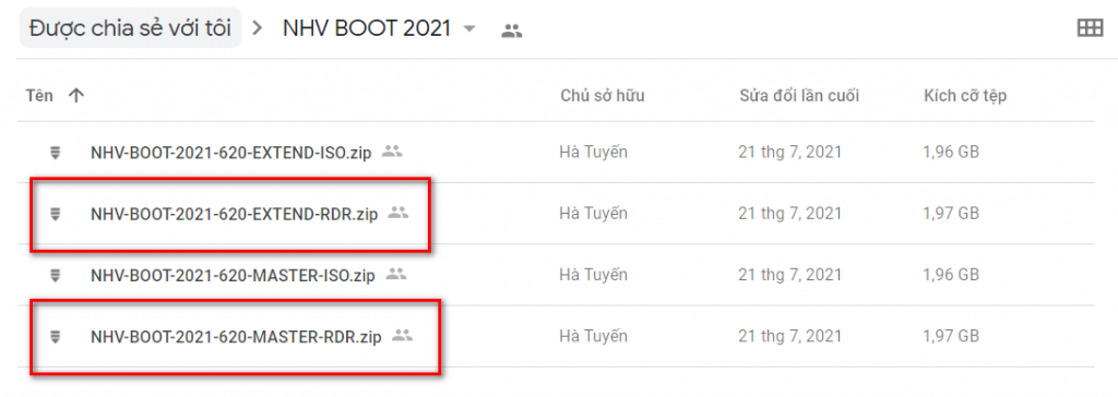 NHV Boot 2021, Download NHV Boot, Tạo NHV Boot